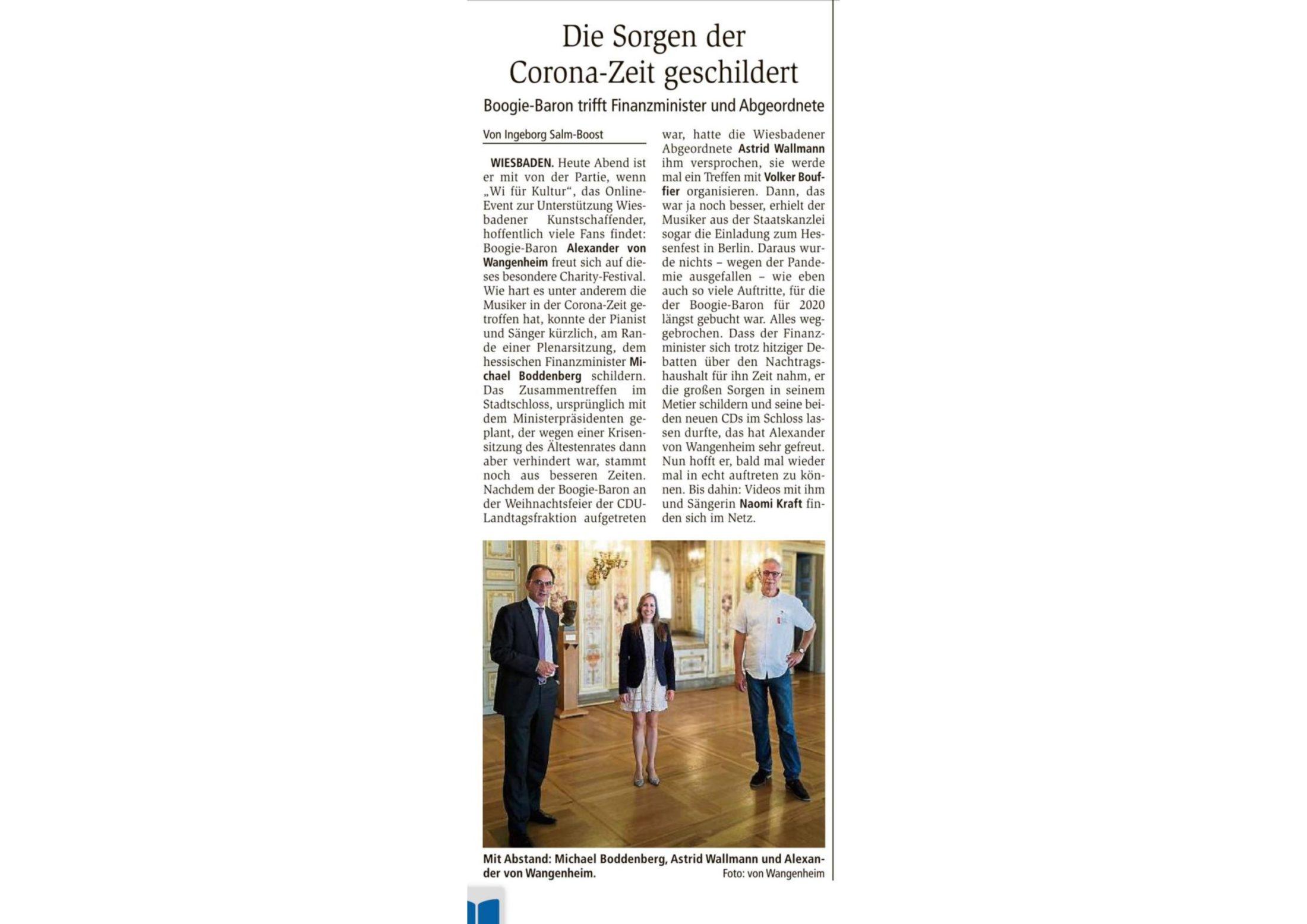 Astrid Wallmann, Michael Boddenberg, Alexander von Wangenheim