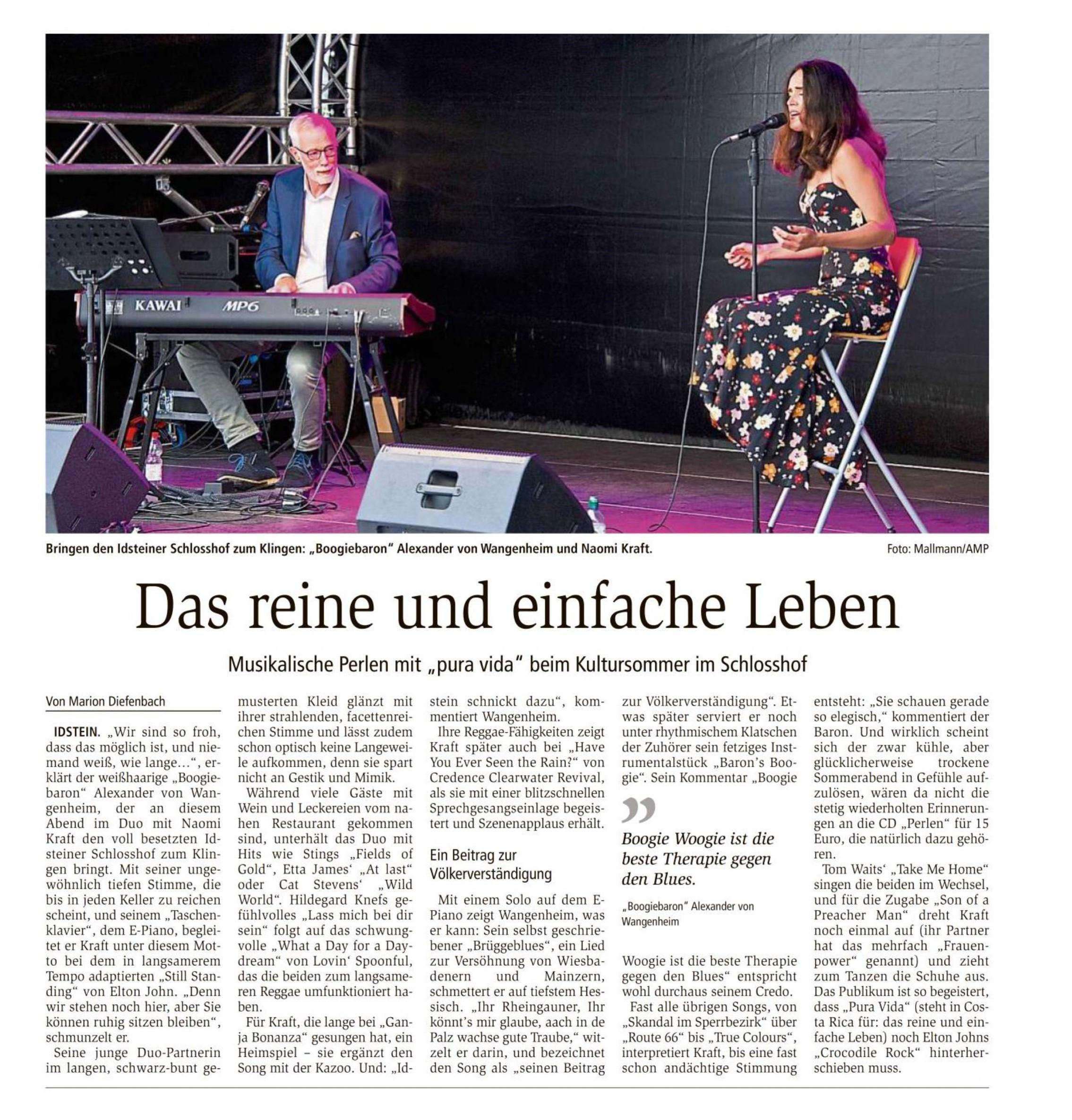 Aus dem Wiesbadener Kurier vom 2. August 2021